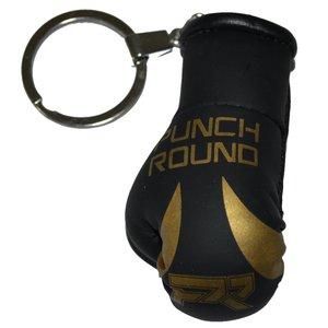 Punch Round™  Schlag Runde Boxhandschuh Schlüsselring Schwarz Gold