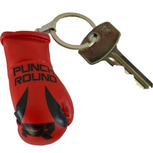 Punch Round™  Punch Round Boxing Glove Keyring Red Black
