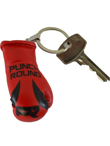 PunchR™  Punch Round Boxing Glove Keyring Red Black