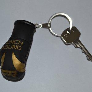 Punch Round™  Punch Round Bokshandschoen Sleutelhanger Zwart Goud