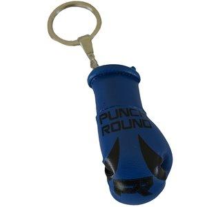 Punch Round™  Punch Round Bokshandschoen Sleutelhanger Blauw Zwart