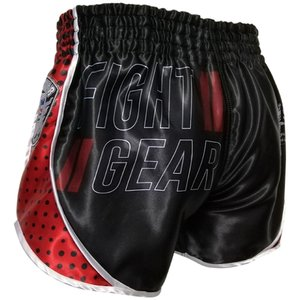 Booster Booster Muay Thai Short Ad Vintage Shield Zwart Rood