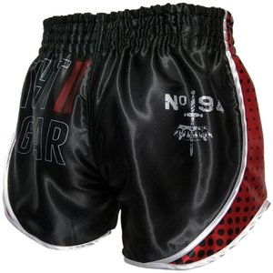 Booster Booster Muay Thai Shorts Ad VintageSchwarz Rot