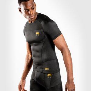 Venum Venum Rashguard G-Fit S/S Compressie Shirt Zwart Goud