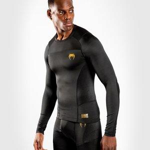 Venum Venum Rashguard G-Fit Compression Shirt L/S Zwart Goud