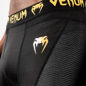 Venum Venum Legging G-Fit Kompressionshose Schwarz Gold