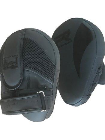 PunchR™  Punch Round PRO Hand Pads Focus Mitts Slam Zwart