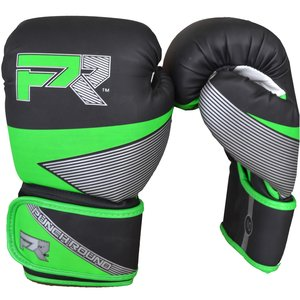 Punch Round™  Punch Round Evoke Boxing Gloves Black Green