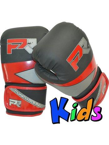 Punch Round™  Punch Round Evoke Boxing Gloves Kids Black Red