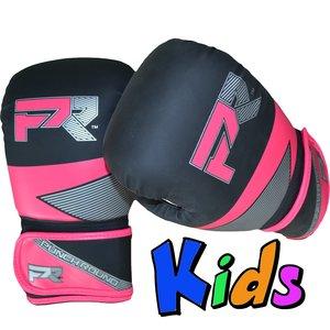 Punch Round™  Punch Round Evoke Boxing Gloves Kids Black Pink