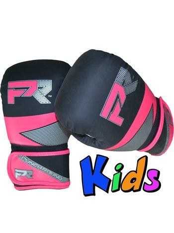 PunchR™  Punch Round Kids Bokshandschoenen Evoke Zwart Roze