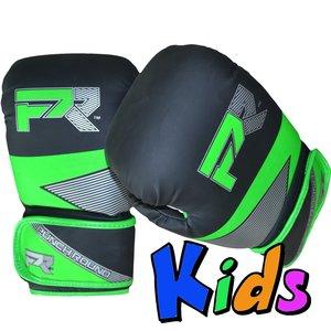 Punch Round™  Punch Round Evoke Boxing Gloves Kids Black Green