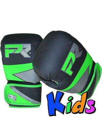 PunchR™  Punch Round Kids Bokshandschoenen Evoke Zwart Groen