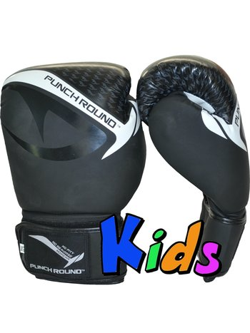 Punch Round™  Punch Round No-Fear Boxing Gloves Kids Black
