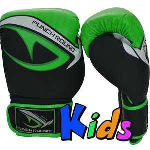 Punch Round™  Punch Round No-Fear Boxing Gloves Kids Black Green