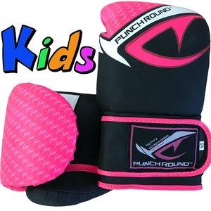 Punch Round™  Punch Round No-Fear Bokshandschoenen Kids Zwart Roze