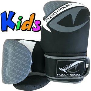 Punch Round™  Punch Round No-Fear Bokshandschoenen Kids Zwart Grijs