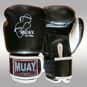 MUAY® MUAY Kids Boxing gloves artificial leather Black White