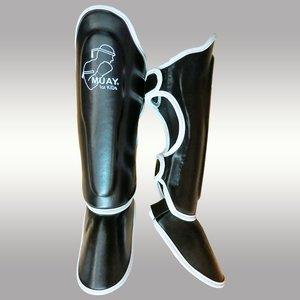 MUAY® MuayKids Kickboks Scheenbeschermers Zwart