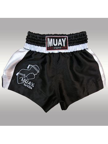 MUAY® Muay Kickboxhose Muay Thai Short Schwarz Weiß