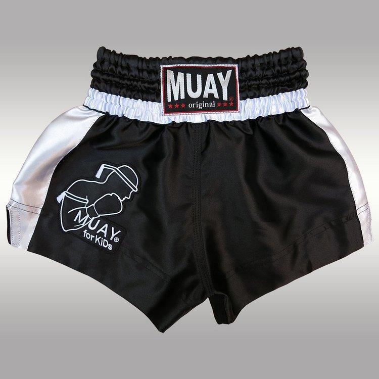 MUAY® Muay Kickboxing Pants Muay Thai Short Black White