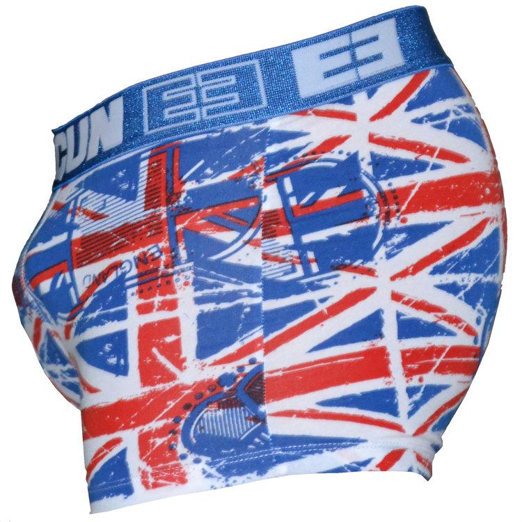 FreeGun Freegun UnderwearBritain Flag Weiss Men Boxershorts Baumwolle