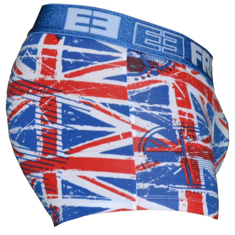 FreeGun Freegun Underwear Great Britain Flag Wit Heren Boxershorts Katoen