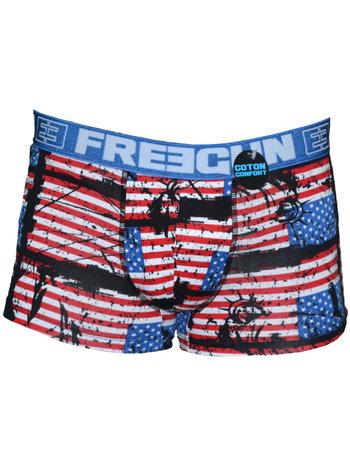 FreeGun Free gun Boxershorts UnterwascheAmerican Flag Men Baumwolle
