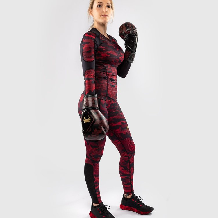Venum Venum Defender Leggings Dames Zwart Rood