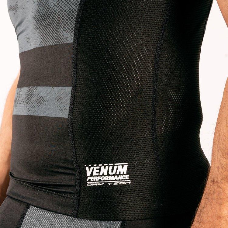Venum Venum SKY247 Rash Guard Korte Mouw Zwart Grijs