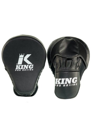 King Pro Boxing King Pro Boxing Hand Pads Focus Mitts Revo Black White