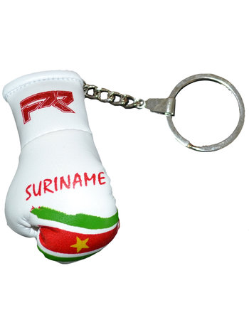 PunchR™  Punch Round Boxing Glove Keyring Flag Suriname