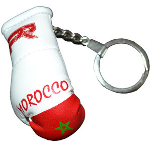 Punch Round™  Punch Round Boxing Glove Keyring Flag Marocco