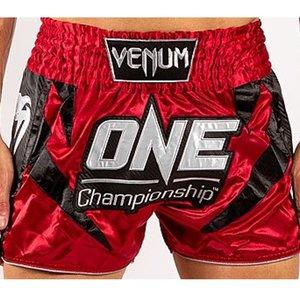 Venum Venum x ONE FC Muay Thai Kickboxing Shorts Red