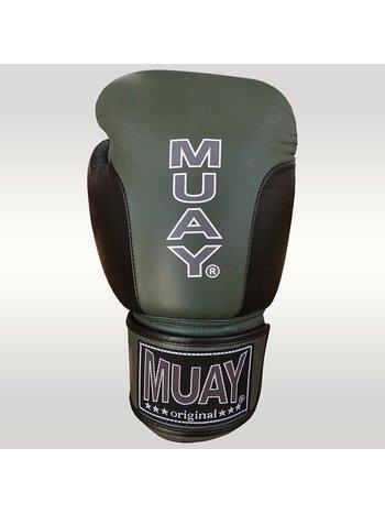 MUAY® MUAY® Premium Boxhandschuhe aus Leder Schwarz Militärgrün