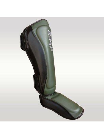 MUAY® MUAY Kickboks Scheenbeschermers Zwart Army Green