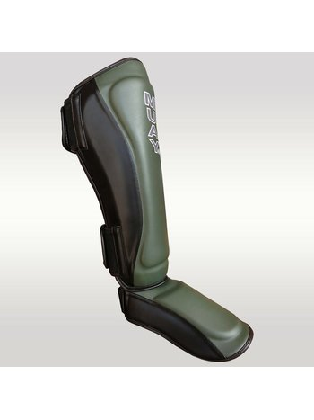 MUAY® MUAY Kickboxing Shin Guards Black Army Green