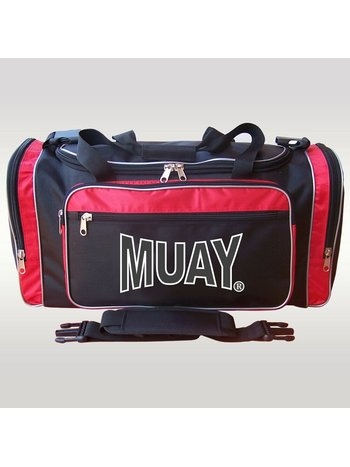 MUAY® MUAY® Classic Sports Bag Black Red Muay Thai Sportsgear