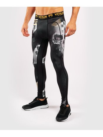 Venum Venum SKULL Spats Tights Black Gold