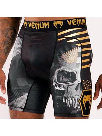 Venum Venum Skull Compression Shorts Schwarzes Gold