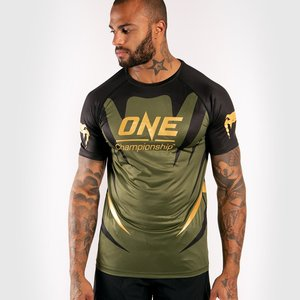 Venum Venum X ONE FC Dry Tech T-Shirt Khaki Gold