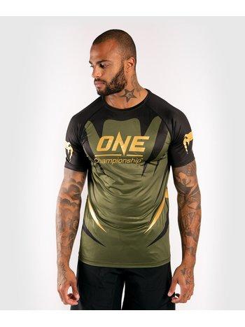 Venum Venum X ONE FC Dry Tech T-shirt Khaki Gold