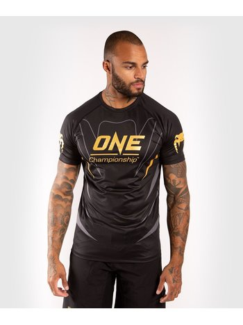 Venum Venum X ONE FC Dry Tech T-Shirt Schwarz Gold