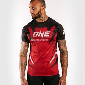 Venum Venum X ONE FC Dry Tech T-shirt Rood Zwart