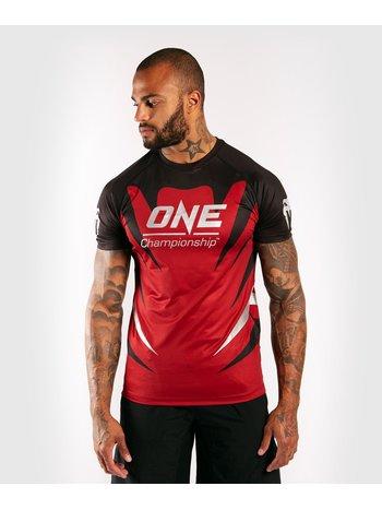 Venum Venum X ONE FC Dry Tech T-Shirt Rot Schwarz
