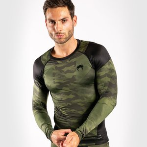 Venum Venum TROOPER Rash Guards L/S Forest Camo Zwart