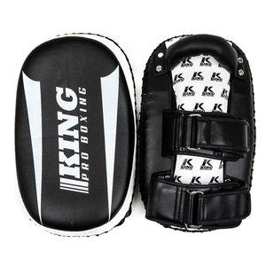 King Pro Boxing King Armpads KPB/REVO KP Thai Pads Zwart Wit per Paar