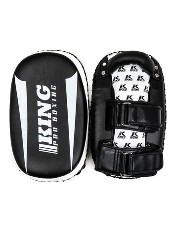 King Pro Boxing King Armpads KPB/REVO KP Thai Pads Black White per Pair