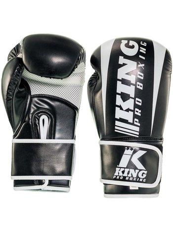 King Pro Boxing King Pro Boxing KPB/REVO 1 Boxing Gloves Black White