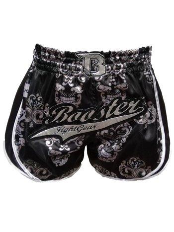 Booster Booster Muay Thai Shorts Retro Skull Schwarz